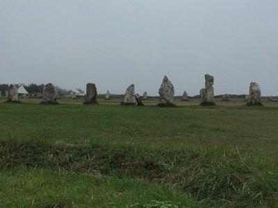 Standing stones at Cabaret Sur Mer.