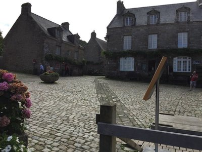 Locronan  main square