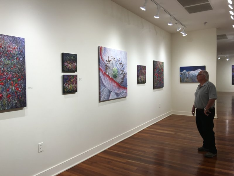Margaret Scanlon's exhibit at Bennett Galleries