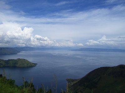 Lake Toba from Taman Simalam