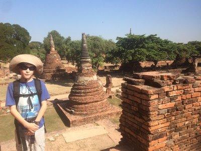 Exploring the Wats at Ayutthaya