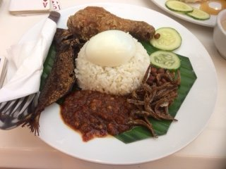 Nasi Lemak, traditional dish, KL Central Market