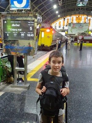 Platform for Chiang Mai Sleeper Train from Bangkok