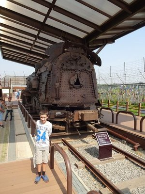 Train peppered with over 1000 bullets, Imjinjak (DMZ)