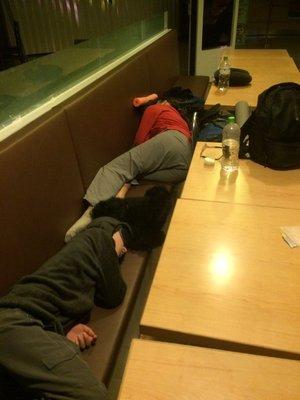 Sleeping at Taipei airport