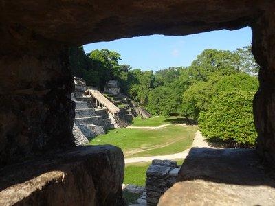 View from El Palacio, Palenque Ruins