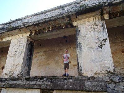Engraving within El Palacio, Palenque Ruins