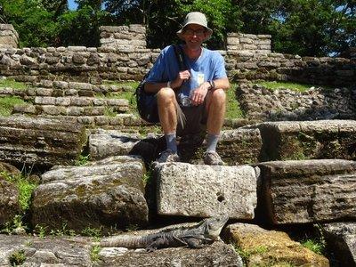 Iguana at Palenque Ruins