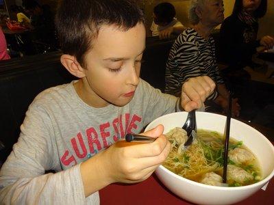 Fish Wonton soup and noodles, Taipei