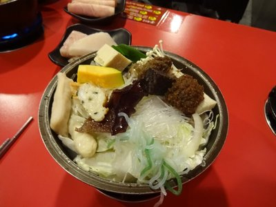 Japanese style hot pot with noodles, Kaohsiung