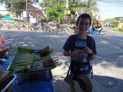 Grilled Pork, Street Food, Ayutthaya