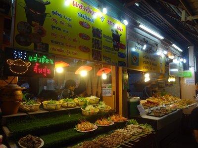 Stalls at Chiang Rai Food Night Market