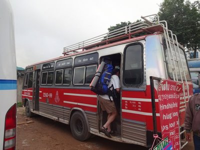 Local Bus to Chiang Khong on the border with Laos (only two and half hours to the border)