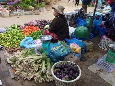 Luang Prabang food market