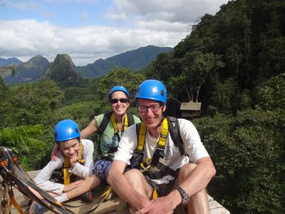 Next destination is that tree house via abseiling and zip line