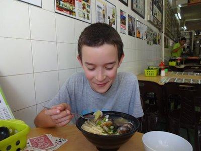 Thomas's favourite dish of fresh clam noodles, Yeap Noodles