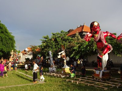 Ogoh Ogoh for Nyepi celebrations, Ubud