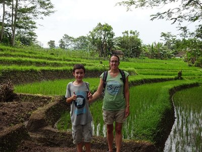 Exploring the rice terraces and avoiding the snakes, Sideman