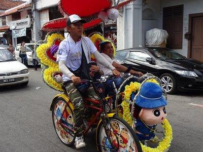 Ricksaw, Malacca
