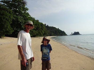 Bunut Beach, completely deserted every day, could wade in to fabulous reef for snorkelling