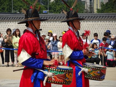 Musicians, Changing of the Guard, Gyeongbokgung Palace
