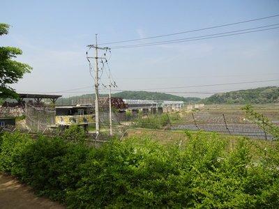 Railway bridge across to North Korea, Imjinjak (DMZ)