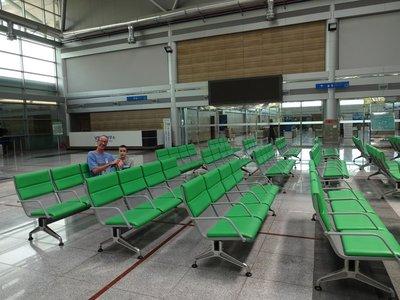 Empty waiting room, Dorasan Station