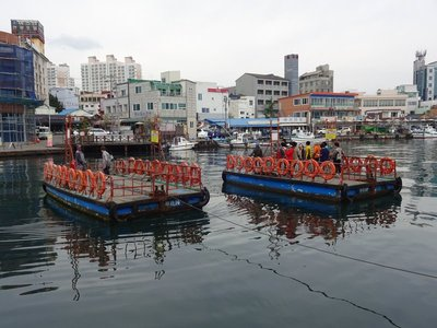Abai Island winch ferry