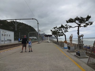 Featured in the Guinness Book of Records, closest railway station to the sea, Jeongdongjin