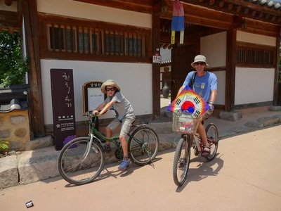 Cycling round Gyeongju