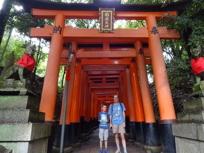 At the start of Torii (shrine gates), Fushimi Inari-Taisha