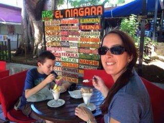 Ice Cream stall in Oaxaca