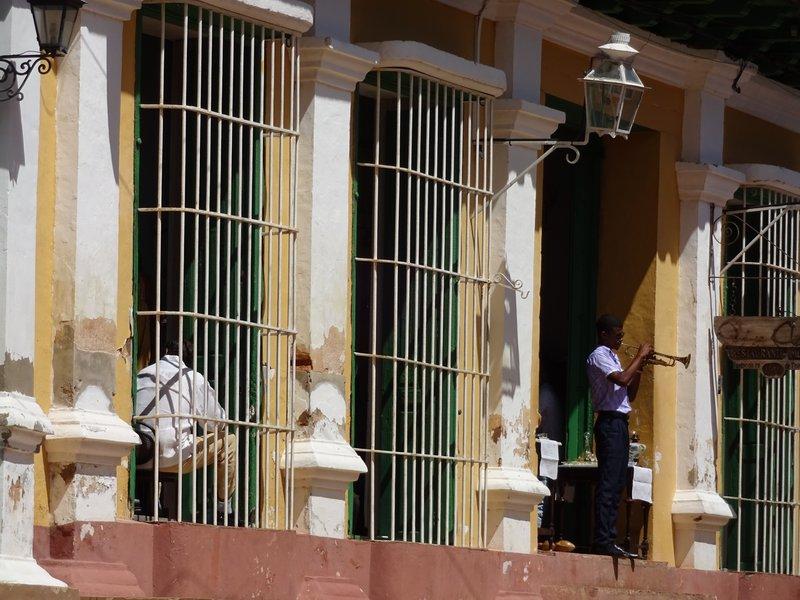 Trumpet Player in Trinidad