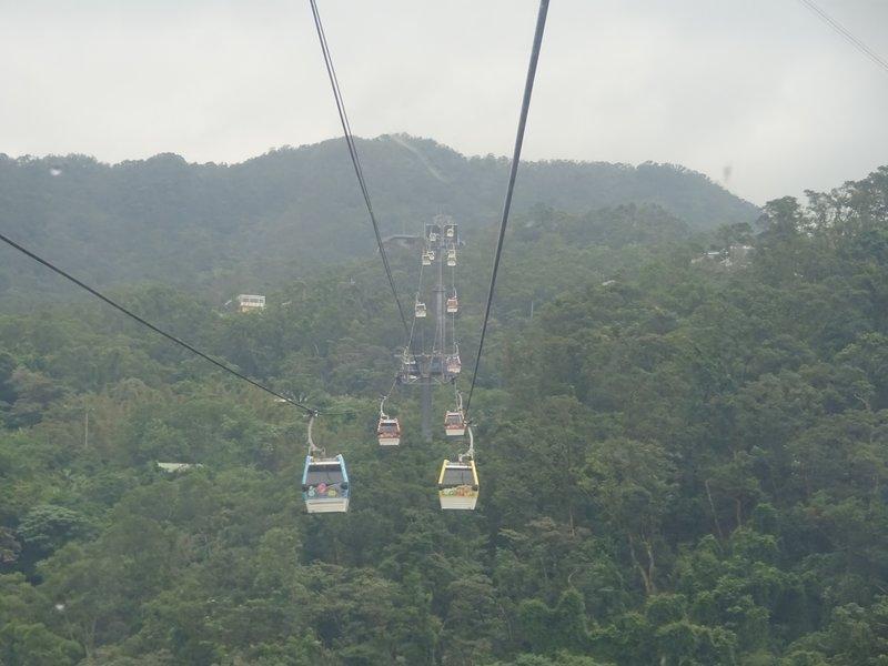 Maokong Gondola in the mist, Taipei