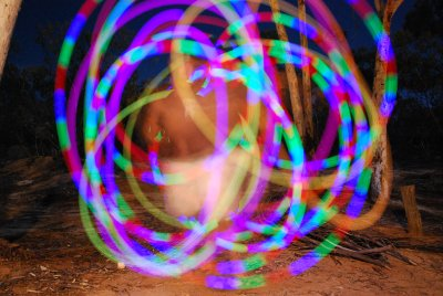 midnight poi swinging