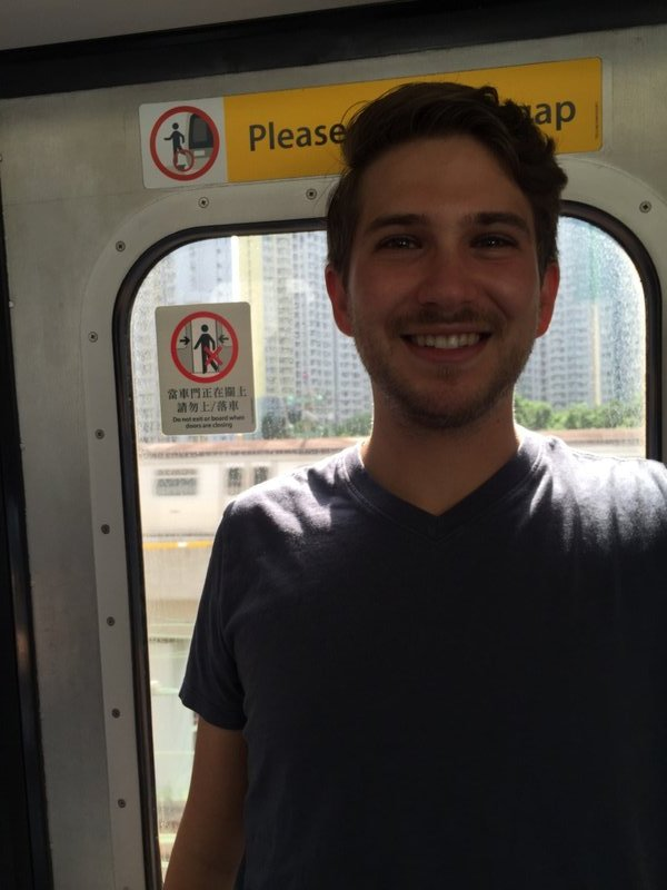 Zach on the HK Subway
