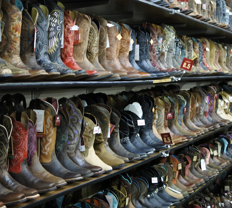 Fancy cowboy boots.
