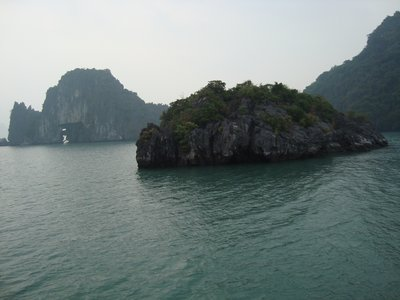 Green waters of Halong Bay