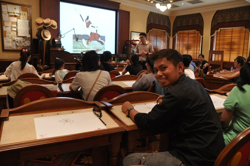 Drawing Class at Disneyland Hong Kong