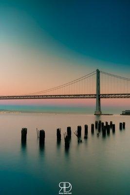 Sunset at Bay Bridge