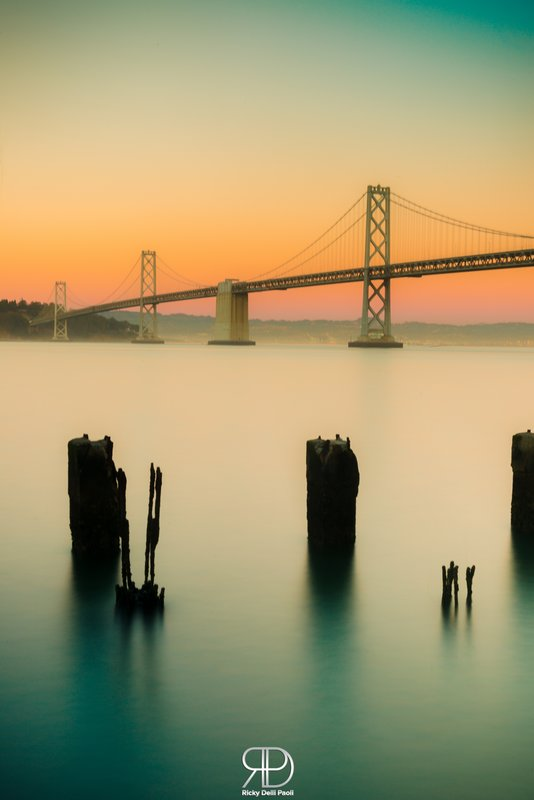 Bay Bridge during the Sunset