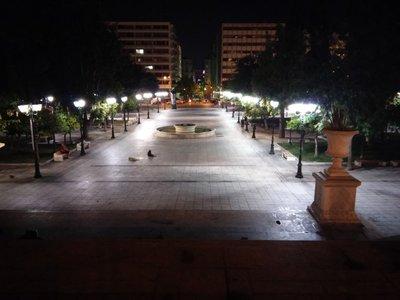 Syntagma square at night