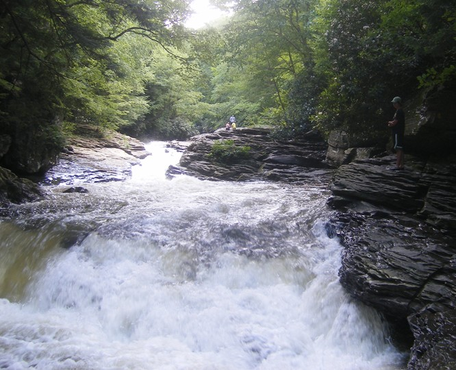 Natural waterslides, Ohiopyle State Park, PA