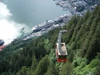 View of tramway from top (Mount Roberts, Juneau)