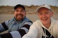two happy men...