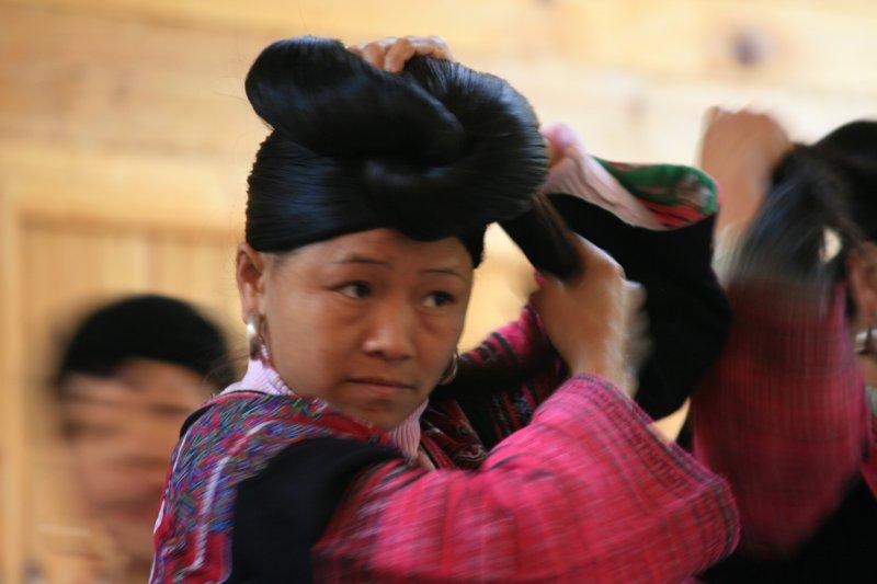 Long hair lady, Longji