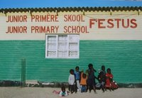 School kids in Swakopmund