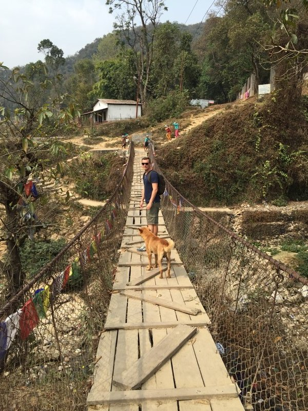 On the suspension bridge