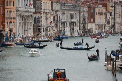 Gondolas across the Grand Canal