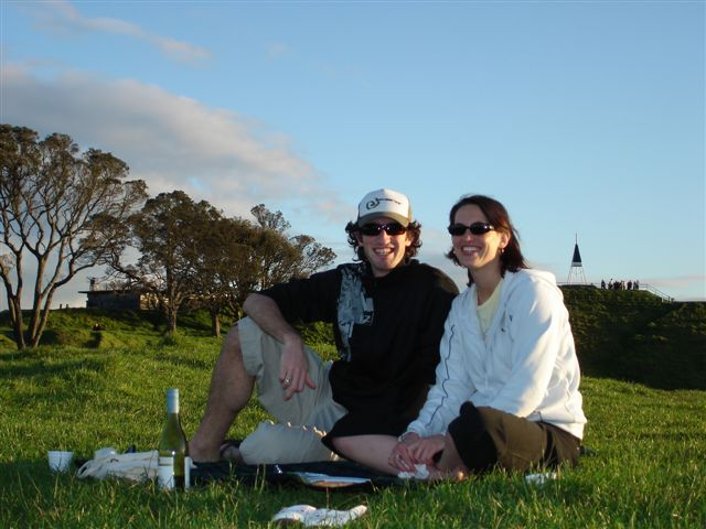 Picnic on Mt Eden, Auckland